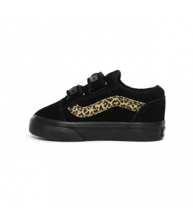 Vans Old Skool Negro/Leopardo