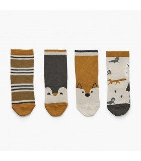 Liewood Silas cotton socks 4-pack Artic