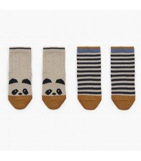 Liewood Silas cotton socks 2-pack Panda