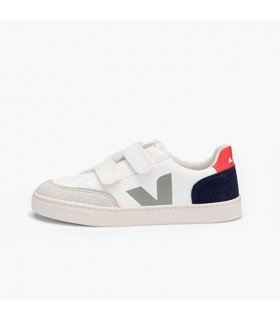 Veja V12 Velcro Easy Leather Multicolor Nautico Junior